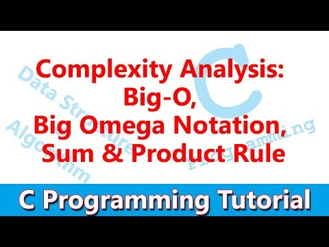 #24 Complexity Analysis: Big-O, Big Omega Notation, Sum & Product Rule