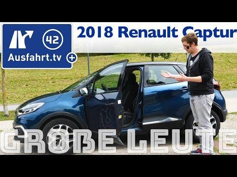 Renault Captur für große Personen? Ausfahrt.tv hilft.