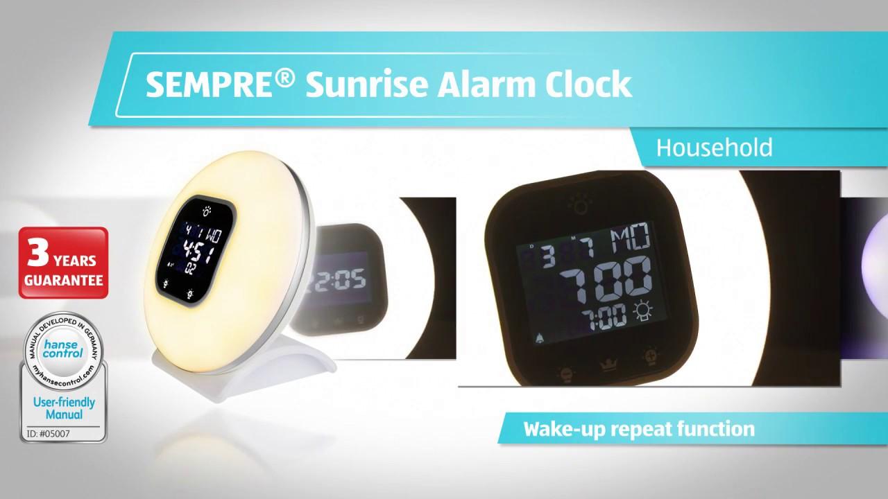philips sunrise alarm clock manual