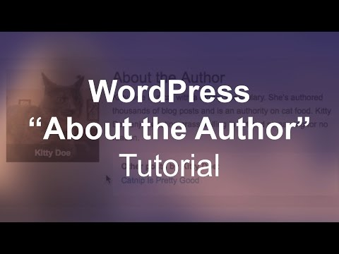 Author description php wordpress