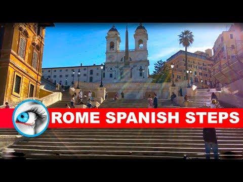 SPANISH STEPS - ROME - ITALY - 4K 2017 - TRAVEL GUIDE