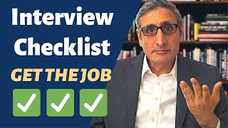 INTERVIEW CHECKLIST: 25 DO's and DON'Ts To Get the Job