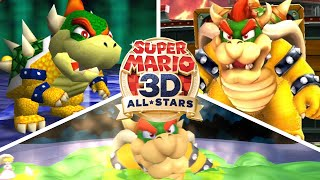 Super Mario 3D All-Stars - All Final Bosses & Endings