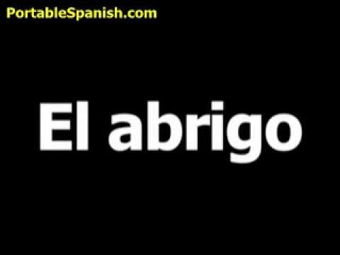 Abrigo spanish translation to english