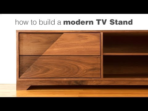 Building a Mid Century Modern TV Stand - Woodworking