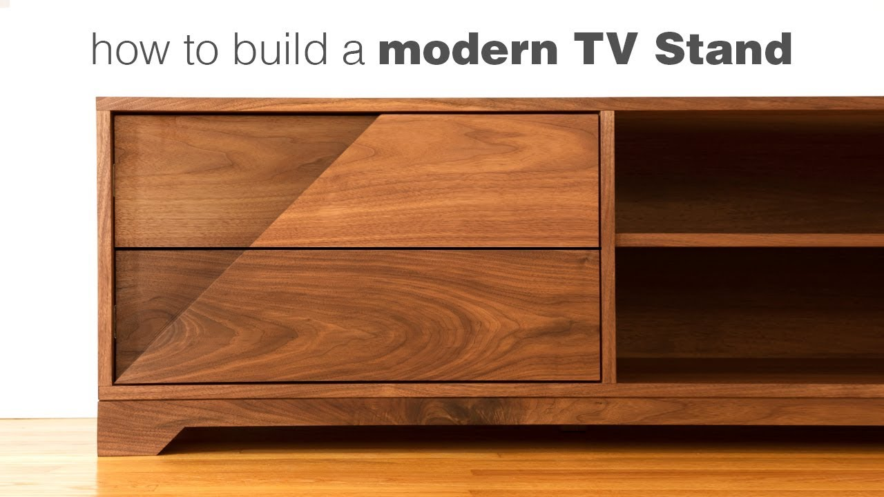 Building A Mid Century Modern Tv Stand Woodworking