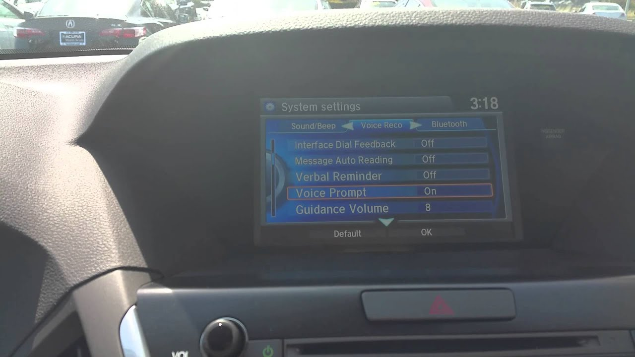 how to turn off the voice prompts on the acura mdx youtube