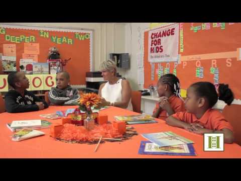 Louise Phillips Forbes at Change For Kids' Career Day, Brooklyn Landmark Elementary School