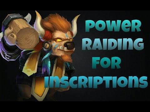 Castle Clash Power Raiding For Inscriptions!
