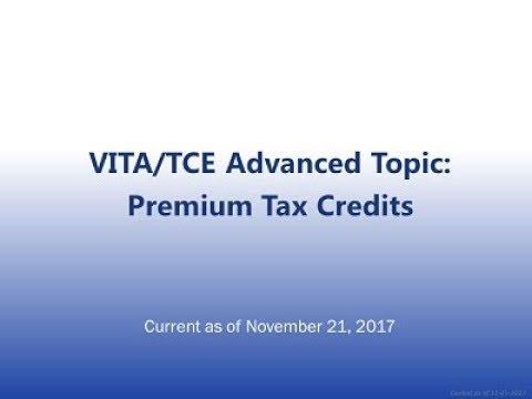 CBPP TY2017 ACA VITA/TCE Tax Training Webinar: Advance Certification ...