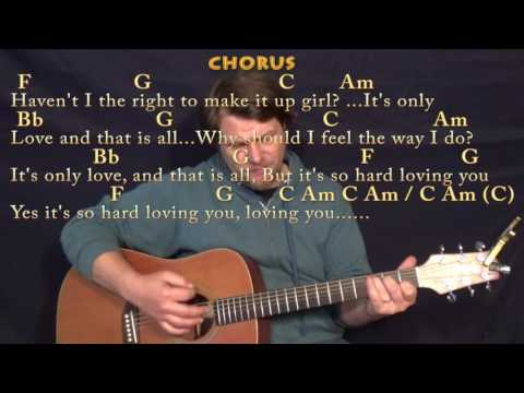 It's Only Love (The Beatles) Guitar Cover Lesson with Chords/Lyrics