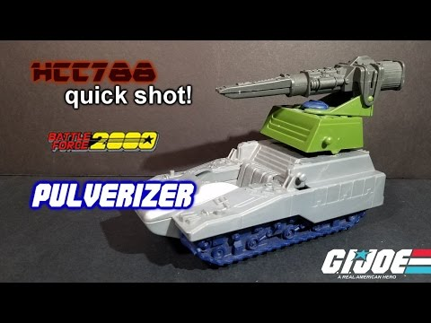 HCC788 quick shot - 1989 PULVERIZER - Battle Force 2000 - Vintage G.I. Joe toy!