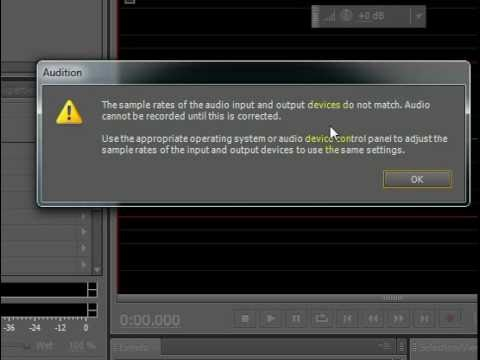 Sound Recording FIX in Adobe Audition CS5.5 - YouTube