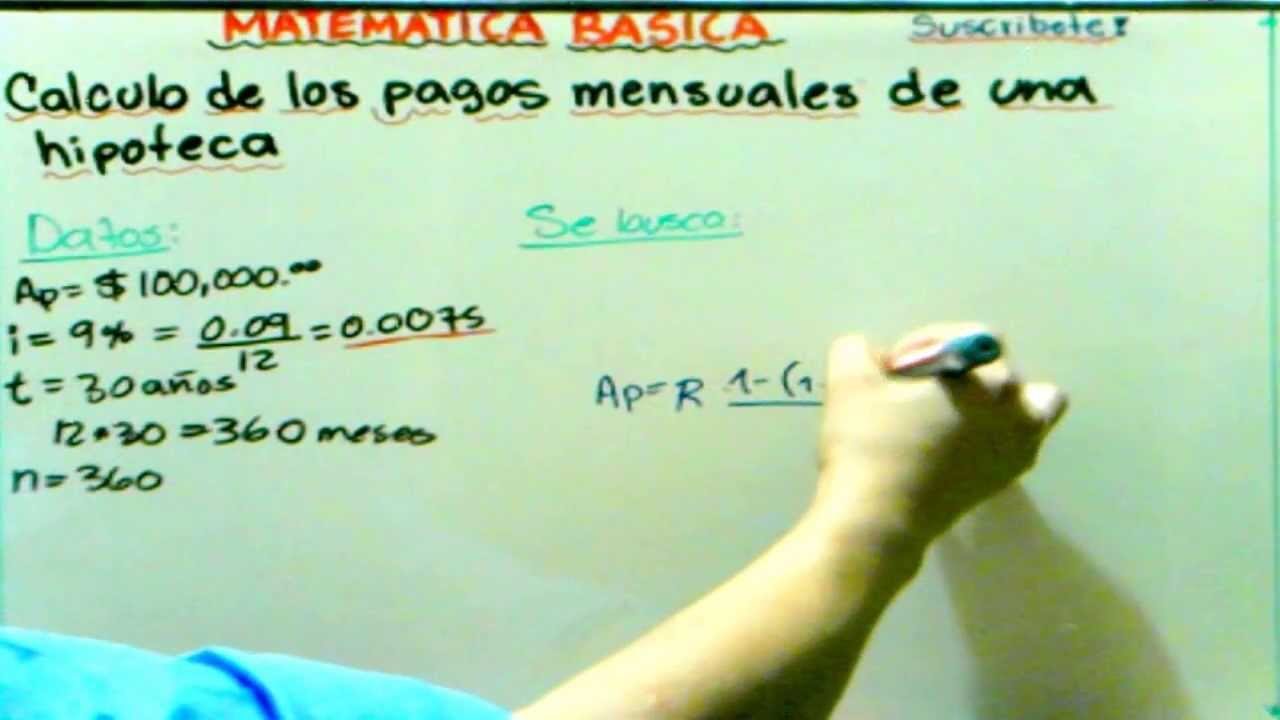 Calcula Hipotecas Cálculo De Los Pagos De Una Hipoteca Video 4 Calculation Of Mortgage Payments Gcmatematica