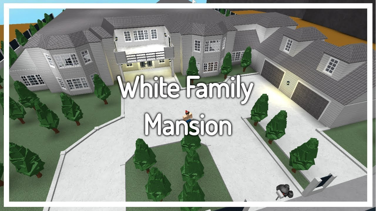 Welcome To Bloxburg White Family Mansion Build Youtube
