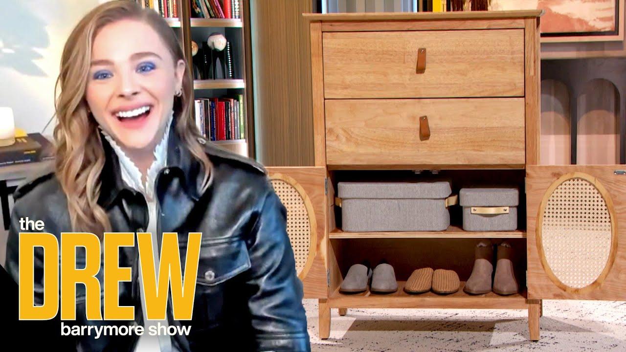 Chloë Grace Moretz Leaves Drew Speechless After She Unveils Insane Furniture Redesign