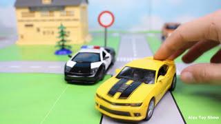Мультик про машинки - 184 серия: Полицейская погоня, Гоночная машина, Трактор, Авария, Эвакуатор
