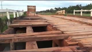 Puente entre General Artigas y Fram Itapua esta en pesimas condiciones