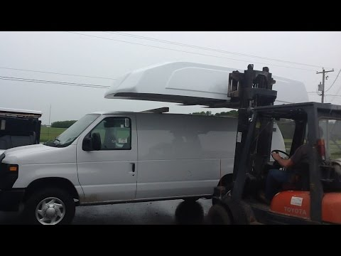 Mory inc Raised Roof Van Top Conversion Cutting out the Roof