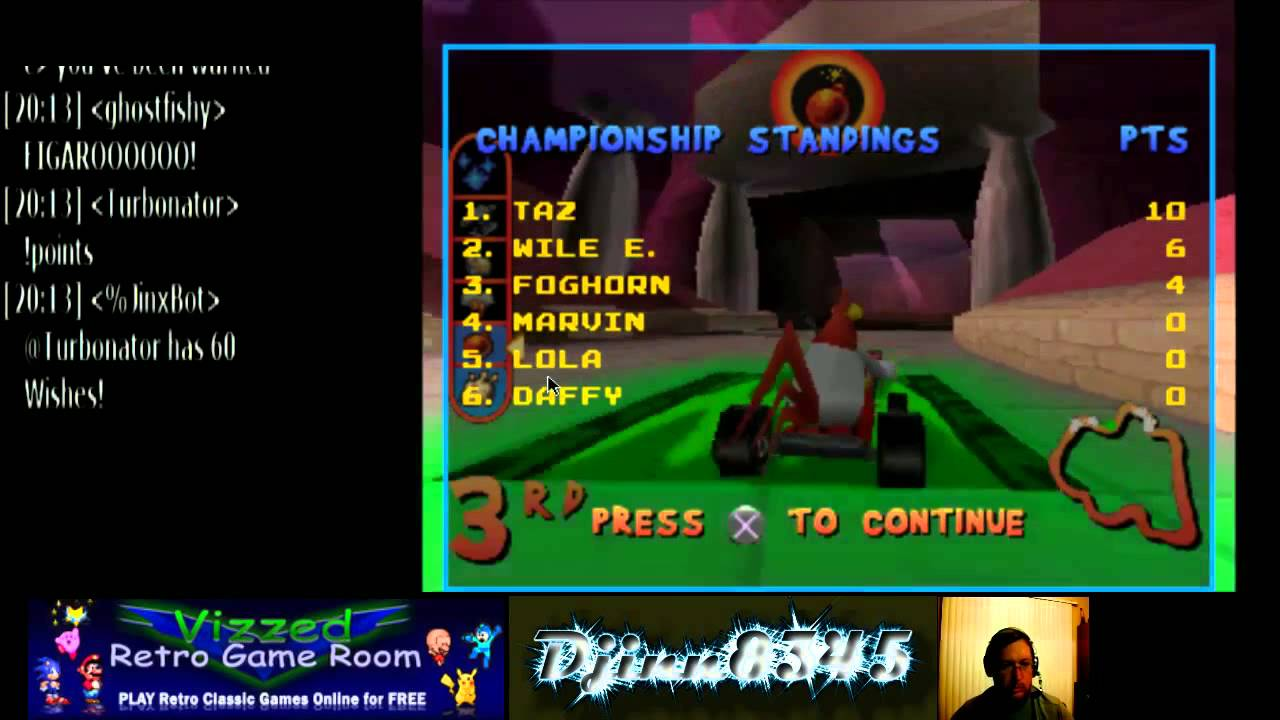 lilwildwolf21 plays Looney Tunes Racing (PSX)MVC - Vizzed com GamePlay