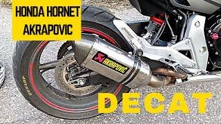 Honda Hornet CB600F 2011 Akrapovic Slip-On Titanium + decat