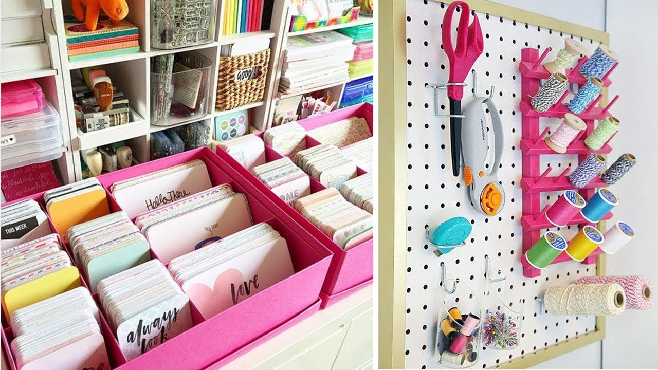 Ikea Hack Craft Room Ideas Craft Room Organization Hacks Youtube