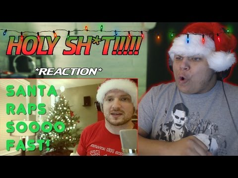 Santa Raps SO Fast!!! (NEW WORLD RECORD!) *REACTION* with Attempting