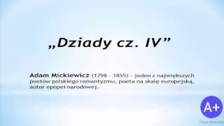 Lektury: Dziady cz. IV