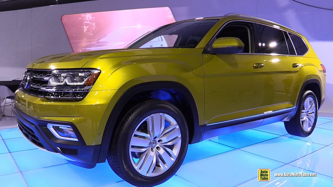 volkswagen atlas exterior  interior walkaround montreal auto show youtube