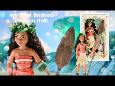 """MOANA LIMITED EDITION 17"""" DOLL REVIEW DISNEY STORE"""