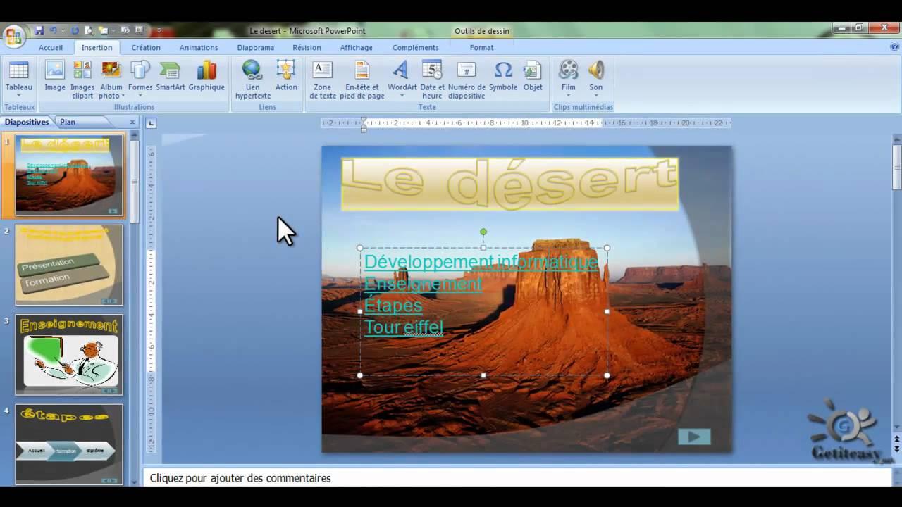 Comment cr er un lien hypertexte dans powerpoint 2007 - Comment faire un powerpoint open office ...
