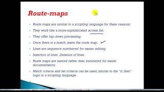 CCNP Route (300 - 101) version 2.0: Route-Maps-Introduction