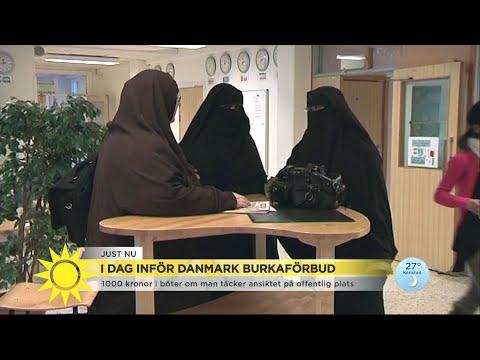 I dag inför Danmark burkaförbud - demonstrationer väntas - Nyhetsmorgon (TV4)