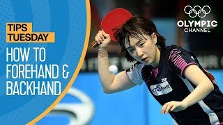How To Forehand Drive & Backhand Chop in Table Tennis | Olympians