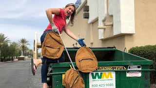 DUMPSTER DIVING- WE ARE SO LUCKY!