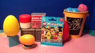 Surprise Eggs! Lego Minifigure Blind Bag Series 17~ Roblox ~ Tsum Tsum~ Mashum Minions