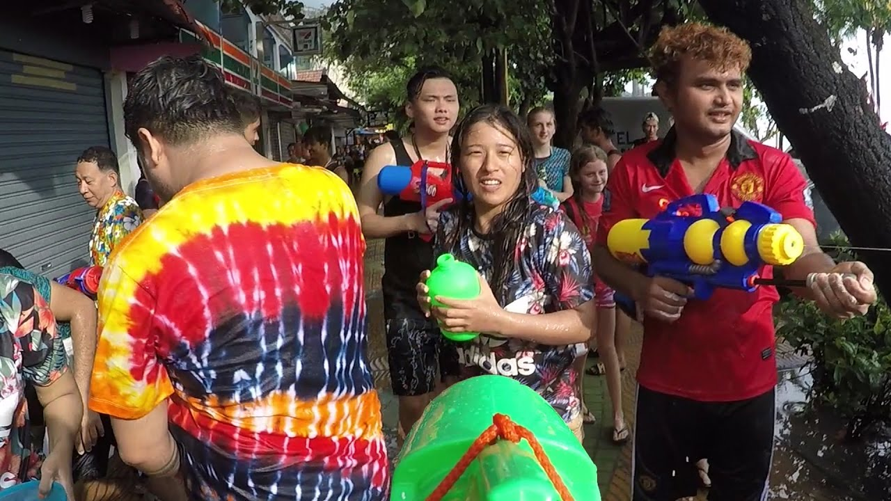 Thai New Year - The World's Biggest Water Fight. Songkran ...