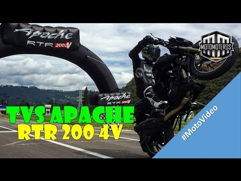 TVS APACHE RTR 200 #PruebaDeManejo - Motomoteros