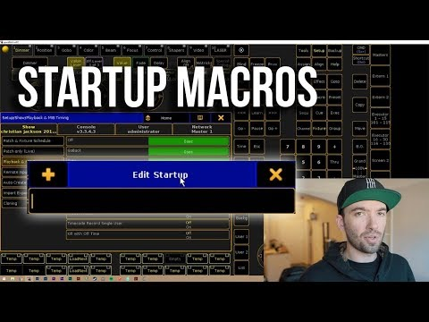 MA2 Startup Macros - How and Why