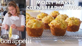 Molly Makes Cornbread Muffins with Honey Butter | From the Test Kitchen | Bon Appetit