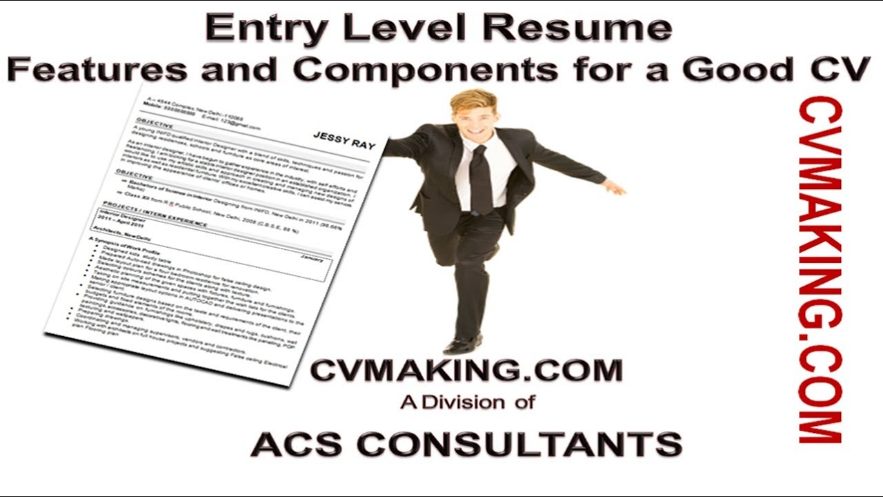 How to make a Good CV for Fresher / Less Experience Candidate - YouTube