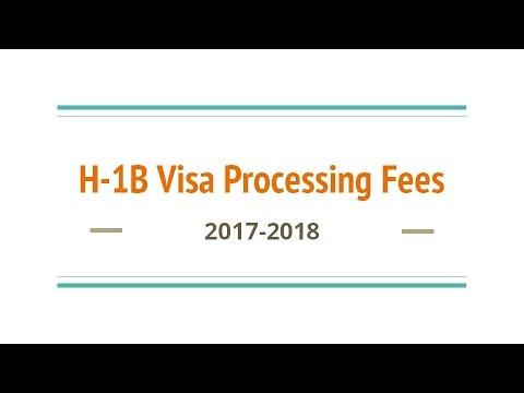 H-1B Visa Processing Fees 2017-2018