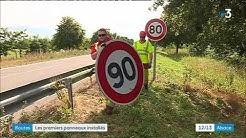 Les nouveaux panneaux 80km/h installés dans le Haut-Rhin
