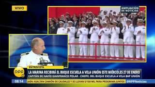 RPP TV: Marina recibirá el Buque Escuela a Vela Unión