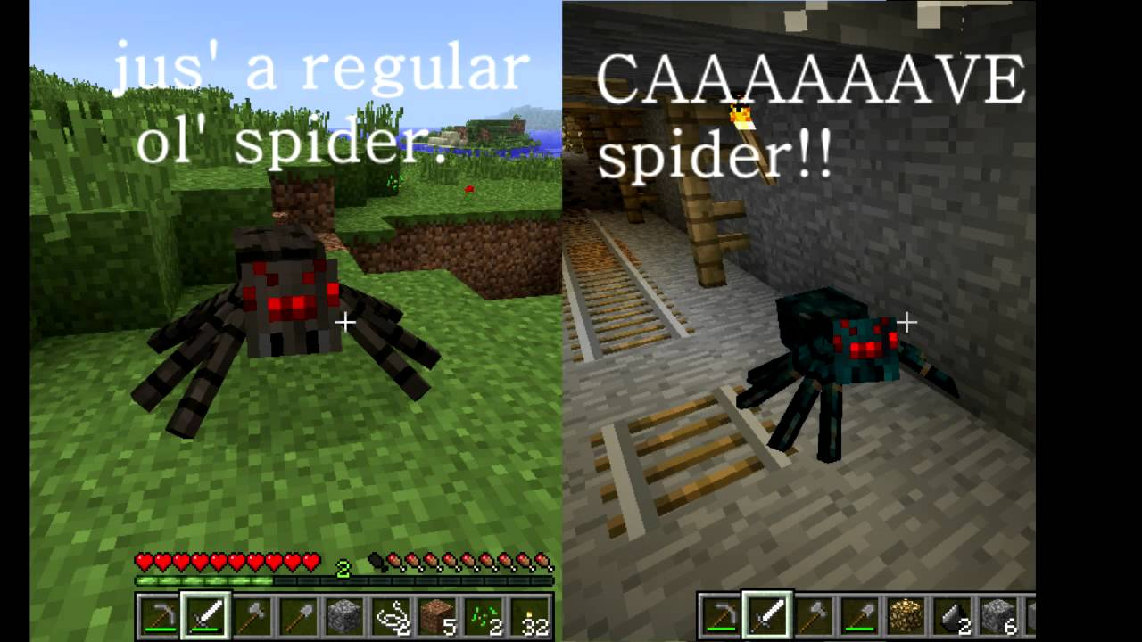 Minecraft Mobs Spiders Youtube