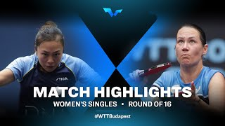 Tin Tin Ho vs Polina Mikhailova   WTT Contender Budapest 2021 (R32)