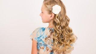 видео детская причёска на длинные волосы