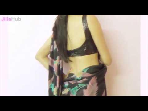 Wear PC Style Saree:Bollywood Black Sari Draping/Wrap New Diva Style Saari