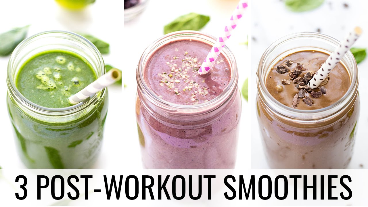 3 Post-Workout Smoothies | HEALTHY + VEGAN