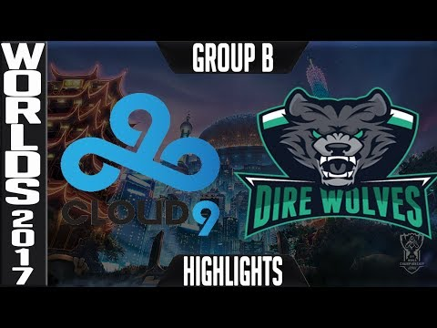 Cloud 9 v Dire Wolves Highlights S7 Worlds 2017 Play in Group B Day 2 LoL World Championship C9 v DW